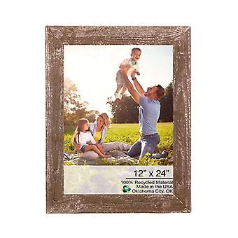 """12"""" x 24"""" Rustieke boerderij espresso houten frame"""