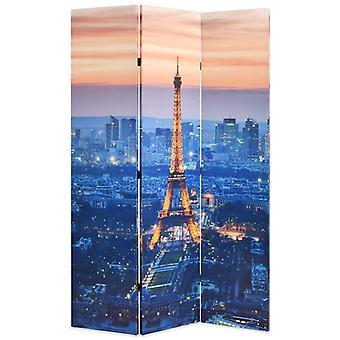 vidaXL部屋の分け切りは120 x 170 cmパリの夜に折り畳み可能