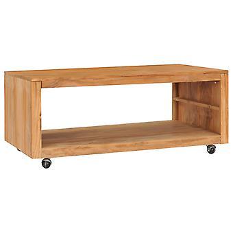 vidaXL Table basse 110×60×40 cm bois massif de teck