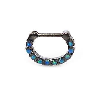 خاتم الحاجز مع الأحجار الكريمة أوباليت متعددة 16g الحاجز الغضاريف tragus روك