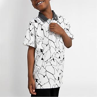 Calvin Klein Golf Kids G Print Polo Shirt Short Sleeve 3 Boutons Performance Top