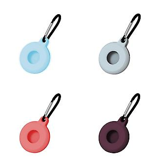 4Pcs silicone protective case compatible with airtags  anti lost keychain ac48