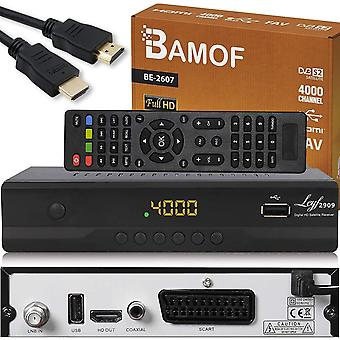 FengChun Bamof BE-2607 Digital Satelliten Sat Receiver - ( HDTV , DVB-S/S2 , HDMI , SCART , 2X USB