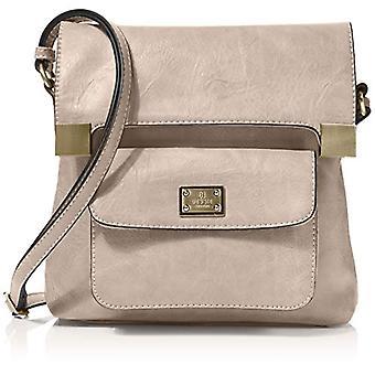 Bessie London, Women's Crossbody Handbag, Stone, One Size