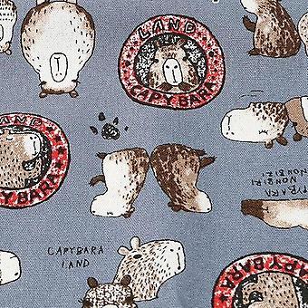 Cartoon Puffer Hemp Printing Cloth, Curtain Puppet Fabric