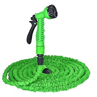 25Ft green garden 3 times retractable hose, with high pressure car wash water gun az8496