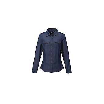 Premier Womens Jeans Stitch Denim Overhemd PR322