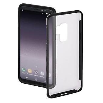"""Hama """"Frame"""" Cover for Samsung Galaxy S9+, transparent/black"""