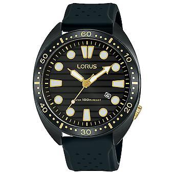 Lorus RH927LX9 Sportowy zegarek z karbonizowaną obudową z tytanu