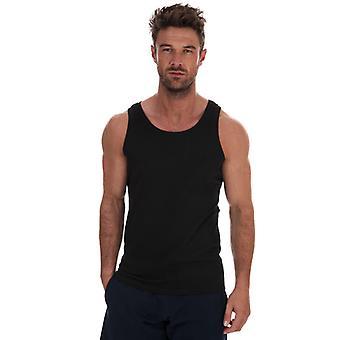 Men's Russell Athletic Singlet Vest in Black