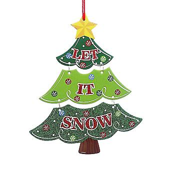 Christmas White Card Paper Door Hanging Christmas Decoration