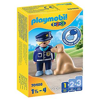 Playset Police with Dog 1 Easy Starter Playmobil 70408 (2 pcs)