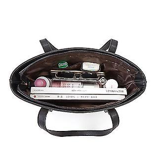 Handväskor för kvinnor, axelväskor 3st handväska set (brun och svart)