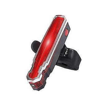 أضواء ذيل ليزر الدراجة لركوب الليل، USB شحن المصابيح الخلفية السلامة