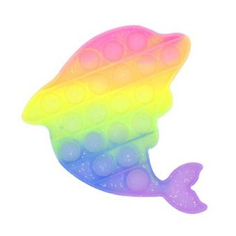 Tavara sertifioitu® Pop It - UV-värjäytyminen Auringonvalo Fidget Stressinvastainen Lelu Kupla Lelu Silikoni Delfiini Sateenkaari