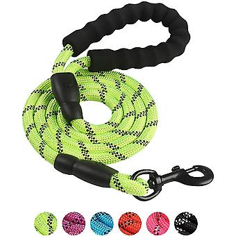 Dog Leash Multicolor Reflective Nylon Round Rope For Outdoor Activity