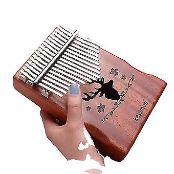 17 Ключи Калимба Большой палец фортепиано Олень Голова Холлоу Музыкальный инструмент для начинающих