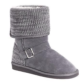 MUK LUKS Women's Chelsea Boots-Grey Fashion, 7 M US