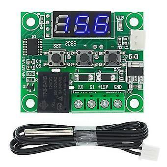 2Pcs w1209 dc 12v熱冷温度制御スイッチ温度計温度計温度計