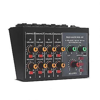 Draagbare 8-kanaals stereogeluidsmixerconsole met 60 Hz-frequentie