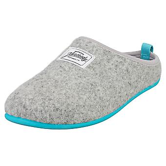 Mercredy Slipper Grey Blue Womens Slippers Shoes in Grey Blue