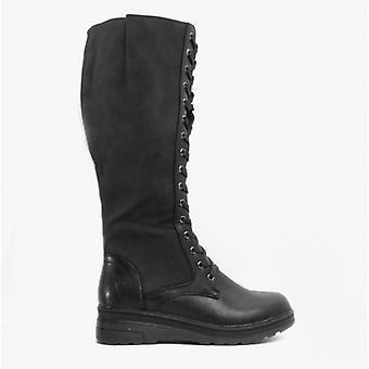 Heavenly Feet Colorado Ladies Tall Boots Black