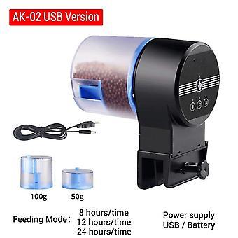 Automatique numérique plastique Minuterie de poisson Minuterie électrique Portable Aquarium Mangeoire à poisson Outils 8 Minuterie