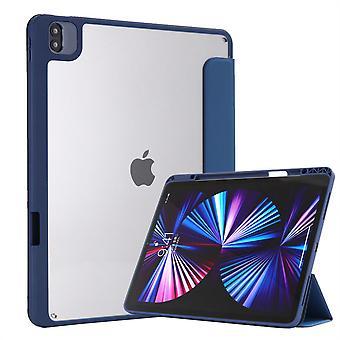 Vhodné pre 18/20/21 iPad Pro12.9 Hybridné tenké puzdro, s priehľadným zadným plášťom, puzdro odolné voči nárazom, opar modrá