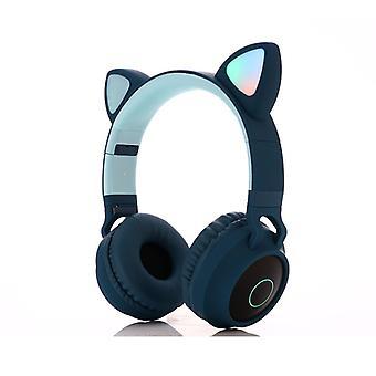 Draadloze Cat Ear Headphones Bluetooth Headset Led Lights Oortelefoon voor kinderen Volwassenen