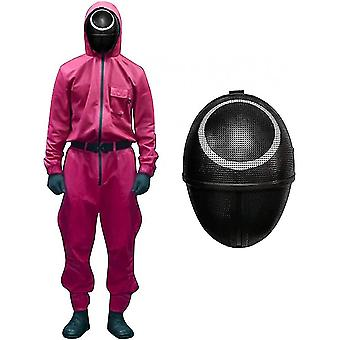 Squid Game Costume Cosplay Jumpsuit + Squid Game Mask Christmas Cosplay Outfit Gifts