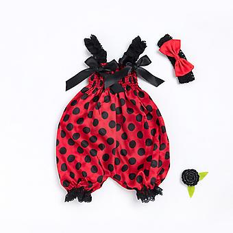 Newborn Baby Girls Bow Sling Tops Rompers Jumpsuit Pants Outfits