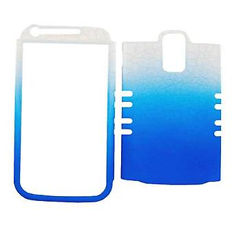 Unlimited Cellular Rocker Snap-On Case for Samsung Galaxy S2 Hercules T989 - Leather Finish White / Blue Egg Crack