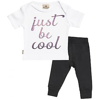 Spoilt Rotten Just Be Cool Baby T-Shirt & Jersey Trousers Outfit Set