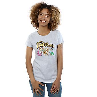 The Flintstones Women's Group Distressed T-Shirt