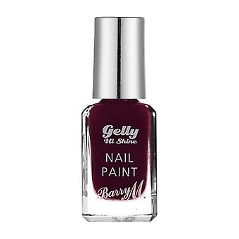 Barry M Gelly Hi Shine Nail Paint - Black Cherry