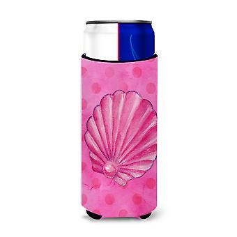 Rose Sea Shell Pink Polkadot Michelob Ultra Hugger pour canettes slim