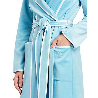 Féraud 3883035-10011 Kvinder's Lagoon Blue Cotton Robe Loungewear Badekåbe