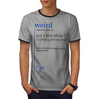 Komische Seite Männer Heather Grey / Heather dunkles GreyRinger T-shirt | Wellcoda