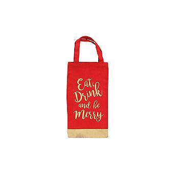 CGB gaveartikler jul spise drikke og være munter Glitter flaske Bag