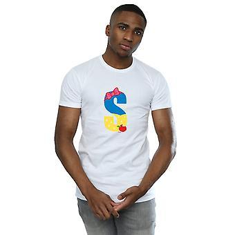 Disney mænds alfabet S er For sne hvid T-Shirt