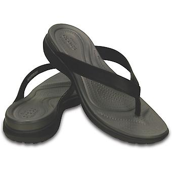 Crocs Womens/Ladies Capri V Comfortable Croslite Leather Flip Flop Sandal