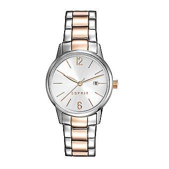 ESPRIT dameshorloge armband horloge Abbie RVS bicolor ES100S62016