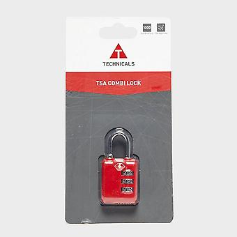 New Technicals Tsa Combi Lock Travel Luggage Safety 3 Digit Lock Red