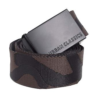 Urban classics - CANVAS Jacquard Camo belt grey camo