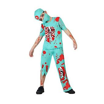 Kinder kostuums halloween zombie dokter kostuum