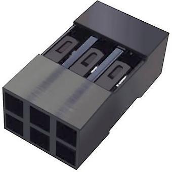 Invólucro de FCI soquete - número Total de Mini-PV de cabo de espaçamento de pinos 6 contato: 2,54 mm 65043-034ELF 1 computador (es)