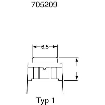 MEC 3CSH9 SMD Pushbutton 24 V DC 0.05 A 1 x Off/(On) IP67 momentary 1 pc(s)