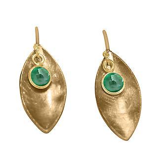 GEMSHINE korva korut Solid 925 hopea päällystetty vihreillä smaragdeja