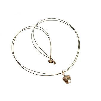 Dames - remorque - Apple - collier - 14 (585) or - plaqué - 1,5 cm
