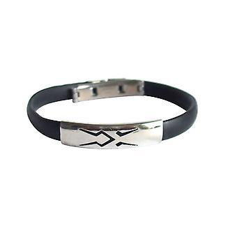 Ladies pulseira mens pulseiras unisex pulseira aço inoxidável e PU